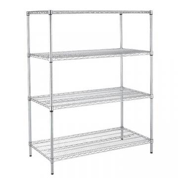 Top quality adjustable chrome wire shelving for Display with Wheels chrome shelves